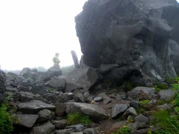 白山の黒ボコ岩