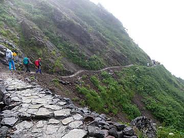 白山の登山道