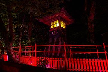 石浦神社のライトアップ