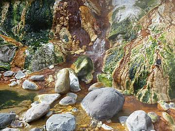 以前噴泉塔があった河原