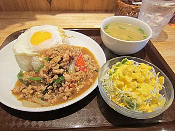 タイ食堂ジャークジャイタイフード センターのガパオ