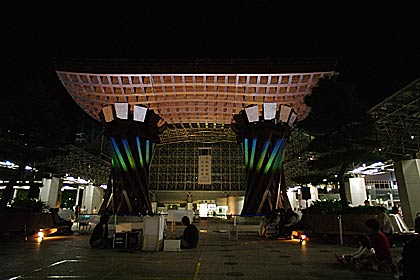 金沢駅プロジェクションマッピングの画像