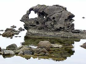 小浦出海岸の岩