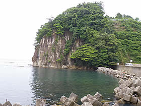 小木金剛崎の海岸