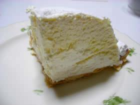 小樽スイートハウスのレアチーズ&ホワイトチョコタルト
