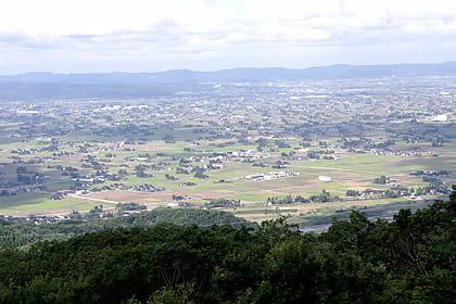 展望台から見える砺波散居村