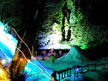 奥飛騨樹林帯タルマかねこおりライトアップ