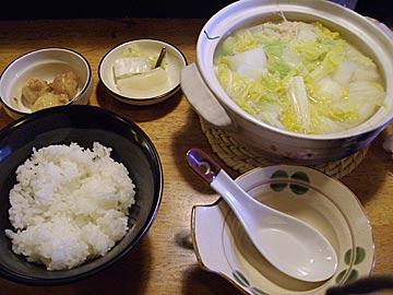 鳥柊(とりしゅう)の鶏つみれ白湯鍋定食