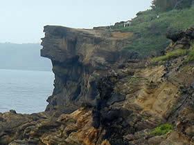 ヤセの断崖の地震前