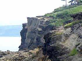 ヤセの断崖の現状